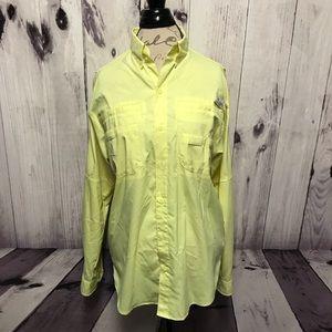 Columbia PFG Omni Shade Yellow Vented Shirt